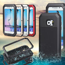For Samsung Galaxy S6 Waterproof Case Shockproof Aluminum Gorilla Glass Cover