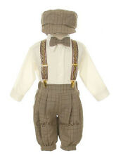 New Boys Beige Brown Ivory Knickers Vintage Suit Set Outfit Easter Christmas