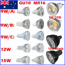 10X 5W 9W 12W 15W GU10 MR16 COB LED Light Bulb Lamp Epistar Downlight Spotlight