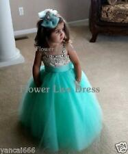 Formal Lace Baby Princess Bridesmaid Flower Girl Dresses Wedding Party Dresses