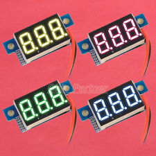 Blue Red Green Yellow LED Panel Meter Digital Voltmeter DC 0-30V