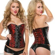 Brocade Buckles Strapless Corset Fashion Sexy Top- S M L XL 2XL