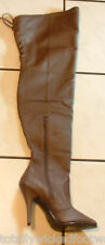 Legend 8899 Leather Thigh High Over The Knee Boot Pull-On Brown Size 13