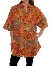 We Be Bop PERFECTLY PAISLEY  Flat Rayon BIG TUNIC Batik Wearable ART Plus