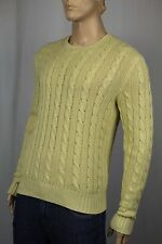 Polo Ralph Lauren Yellow Crewneck Silk Linen Sweater NWT $145