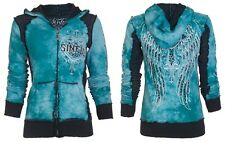 Sinful AFFLICTION Womens Hoodie Sweat Shirt Jacket BLITZKRIEG Biker UFC S-XL $74