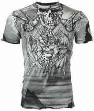 AFFLICTION Mens T-Shirt PUPPET MASTER Tattoo Fight Biker Gym MMA UFC M-4XL $50