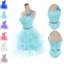 TUTU Beaded Short Bridesmaid Graduation Prom Gown Formal Evening Party Dresses