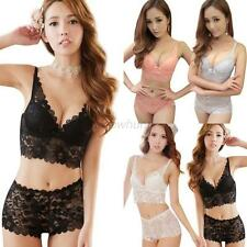 New Womens Lady Cute Sexy Underwear Lace Embroidery Bra Sets Push up Bra + Panty