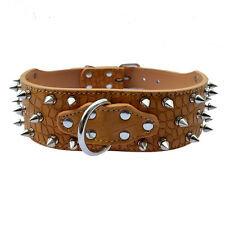 Studded Collar For Large Dogs 2''Wide Pu Leather Dog Collar Pitbull Pet Supplies