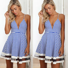 Sexy Womens Sleeveless Summer Party Evening Cocktail Casual Short Mini Dress