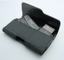 OEM REIKO Leather Carrying Sideways Case Pouch Clip Holster w/ Two Card Pockets