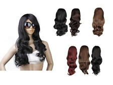 Lady Full Long Curly Wavy Hair Wig Anime Party Cosplay Costum Fancy Dress U Pick