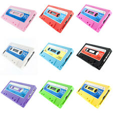For Apple iPhone 5 5S Cassette Retro Tape Silicone Soft Gel Skin Case Cover