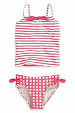 Bnwt NEXT Girls Coral Spot & Stripes Tankini  11 yrs 10-11 yrs 146cm