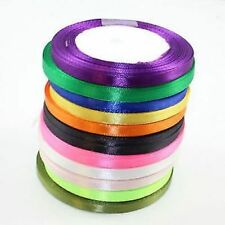 7mm SATIN RIBBON *23 METRES* *30 COLOURS* CARDMAKING CRAFTS WEDDING INVITATIONS