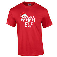 Papa Elf T Shirt Christmas Holiday T-Shirt Christmas Party Tee 5 COLORS