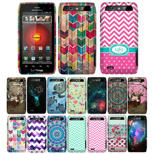 For Verizon Motorola Droid 4 XT894 Chevron Snap On HARD Case Cover Accessory