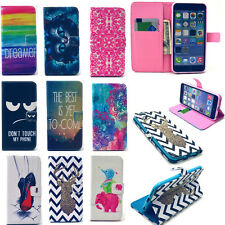 Card Holder Stand Pouch Wallet Case Cover Leather Flip For iPhone 4 5 5C 6 Plus