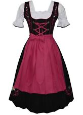 DIRNDL Trachten German Oktoberfest DRESS 3 pcs EMBROIDERED Swing Party Waitress