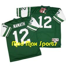 JOE NAMATH New York NY JETS Home Green NFL REEBOK Premier THROWBACK Jersey M-L