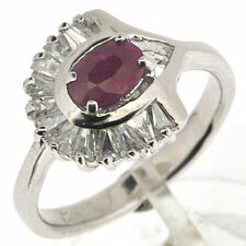925 Silver 0.75 Ct Natural Ruby & CZ Ring