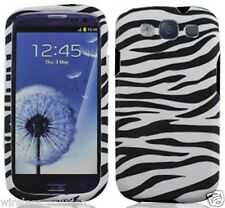 BLACK WHITE ZEBRA Snap-On Case Hard Cover for Samsung Galaxy S3 SIII