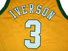 ALLEN IVERSON BETHEL HIGH SCHOOL JERSEY Yellow NEW SEWN -  ANY SIZE XS - 5XL