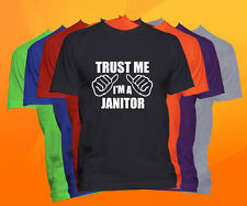 Trust Me I'm A Janitor T Shirt  Career Occupation Profession Tee