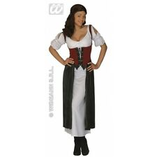 Ladies Womens Lucrezia Wench Costume Outfit for Middle Ages Medieval Fancy Dress
