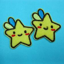 2 Star Iron on Sew Patch Applique Badge Embroidered Biker Applique Cute Baby Lot