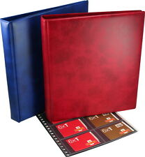 Salisbury Multi-ring Booklet Album. In blue or red with a choice of pages.