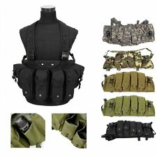 New Airsoft Tactical Military Paintball Chest Rig Vest with 4 Magazine Pouch