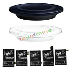 Qi Wireless Charger Charging Pad+ Receiver For Samsung Galaxy S3 4 5 Note 2 3 4