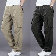 Stylish Mens Trousers pocket  outdoor Work Casual Quick-dry Cargo overall Pants