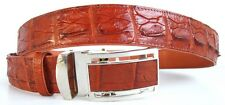 Backbone Genuine Real Crocodile Alligator Leather Men's Belt Cognac Size 35-45