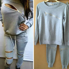 NEW Womens Sports Sweatshirt  Pants Track & Sweat Suits Casual Tracksuit Fitness