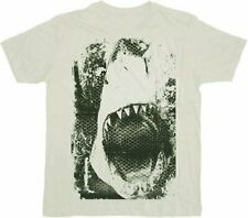 Classic Movie Adult JAWS Mouth Screen White T-shirt