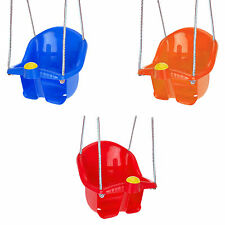 Childrens Plastic Swing Seat With Rope And Hook Outdoor Garden