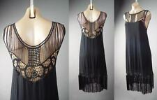 Black Fringe 20s Flapper Style Dance Great Gatsby Theme Party 146 mv Dress S M L