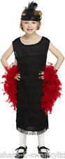 Childs Girls Flapper 1920s Charleston Fringed Fancy Dress Costume Outfit 4-12 yr