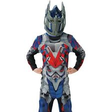 Kids Optimus Prime Transformers Costume Boys Robot Warrior Child Outfit & Mask
