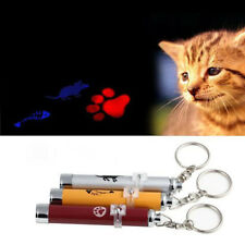 Funny LED Laser Pointer Light Pen Pet Cat Toy Torch Fish Mouse Cat Paw Animation