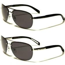 Mens XLOOP Polarized Sunglasses Aviator Black UV400 Rimless PZ590 New