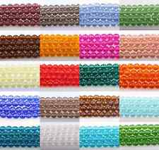 50pcs Czech Glass Crystal Faceted Rondelle Spacer Bead Charm Finding 4/6/8/10mm