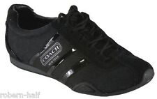 New COACH Remonna Tennis Sneakers Signature Jacquard Black 5 - 9.5 US