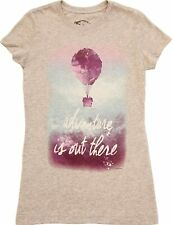 Juniors Heather Gray Disney Up Adventure Is Out There Balloon House T-Shirt Tee