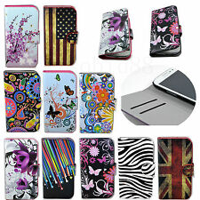 Flip Stand Card Wallet Leather Cover Case For Samsung Galaxy S3 Mini S4 Mini S5