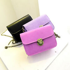 New Women Chain Shoulder PU Leather Candy Color Crossbody Messenger Mini Bag