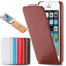 Luxury Handmade Vintage Flip Slim Thin Leather Hard Case Cover For iPhone Models